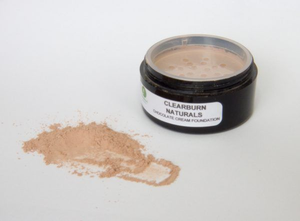 chocolate brown mineral foundation