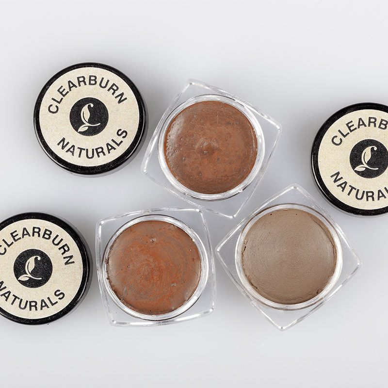 brown mineral eyebrow powder
