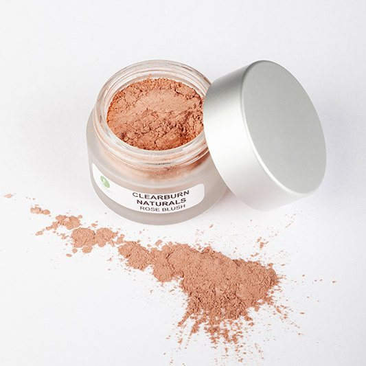 rose coloured mineral blush